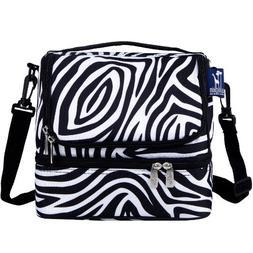 Wildkin Zebra Double Decker Lunch Bag