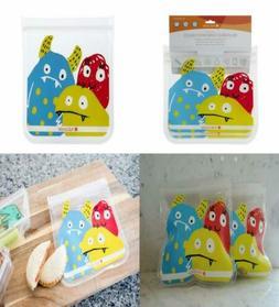 Full Circle ZipTuck Kids Reusable Lunch Bags, Set, Stem